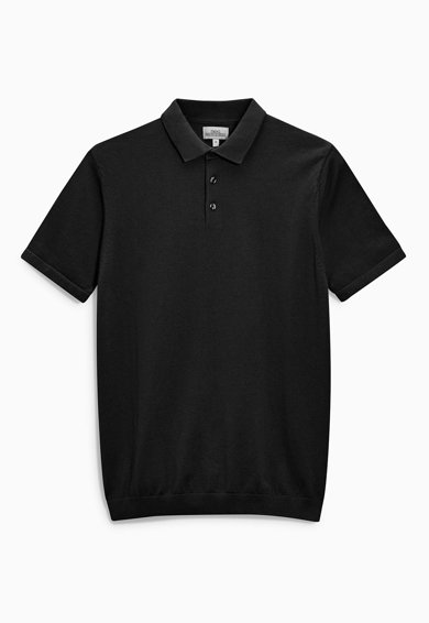 Imagine Tricou polo negru