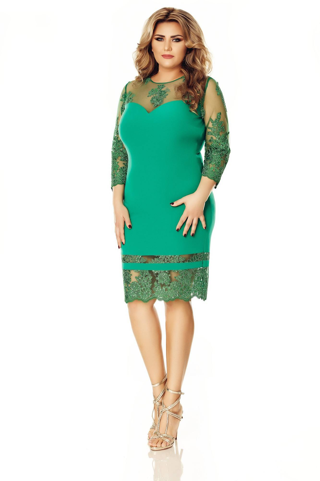 Imagine Rochie Plus Size Gratiela Verde