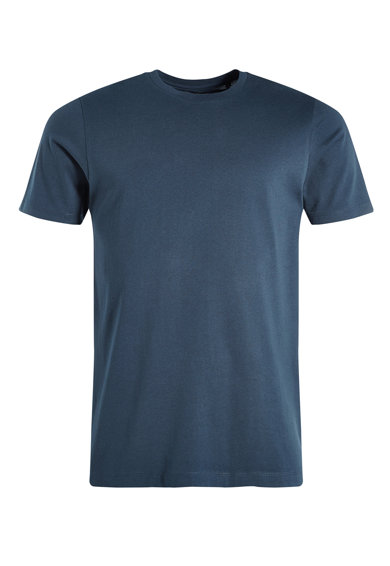 Imagine Tricou regular fit bleumarin cu decolteu la baza gatului