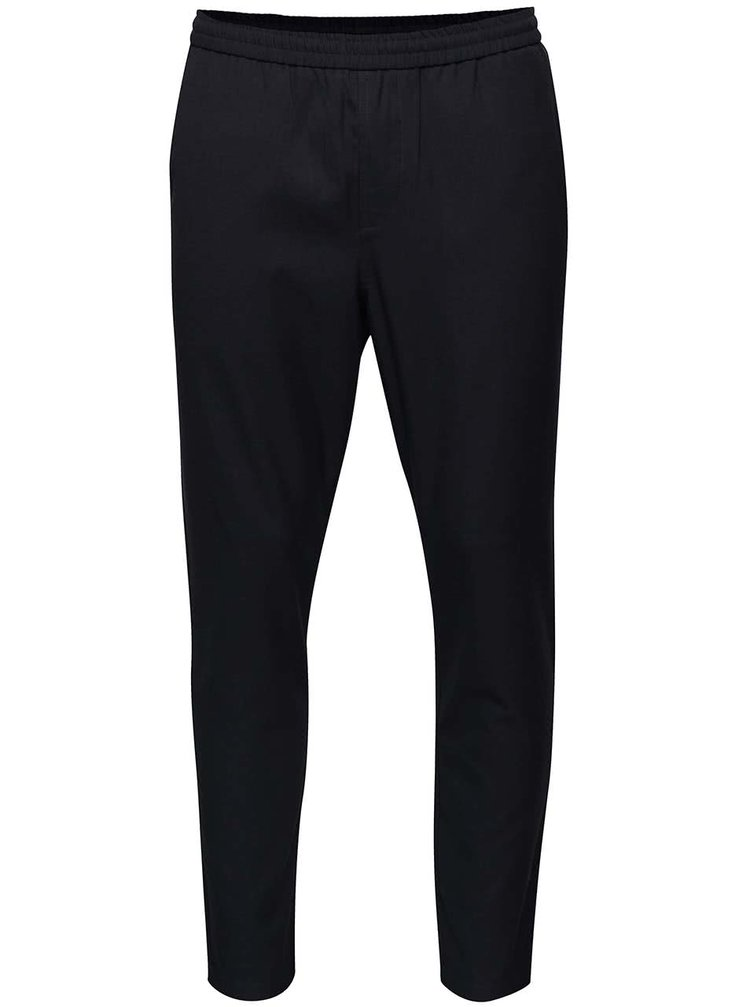 Imagine Pantaloni bleumarin cu talie elastica - Selected Homme Key