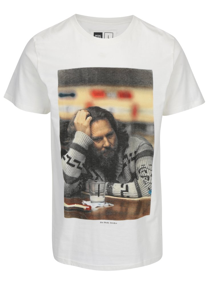 Imagine Tricou alb cu print Dedicated Stockholm The Dude