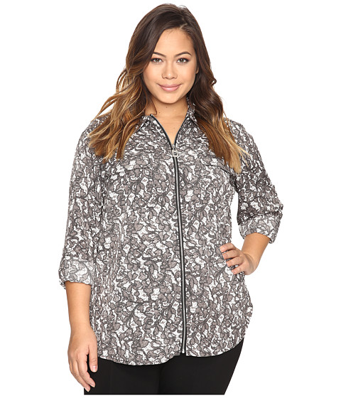Imagine Michael Kors Plus Size All Over Umbria Dog Tag Top