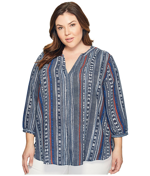 Imagine NYDJ Plus Size Pintuck Blouse