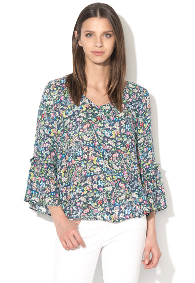 Imagine Bluza cu maneci 3/4 si model floral