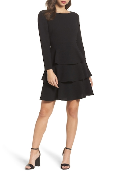 Imagine Eliza J Ruffle Fit & Flare Dress Regular & Petite