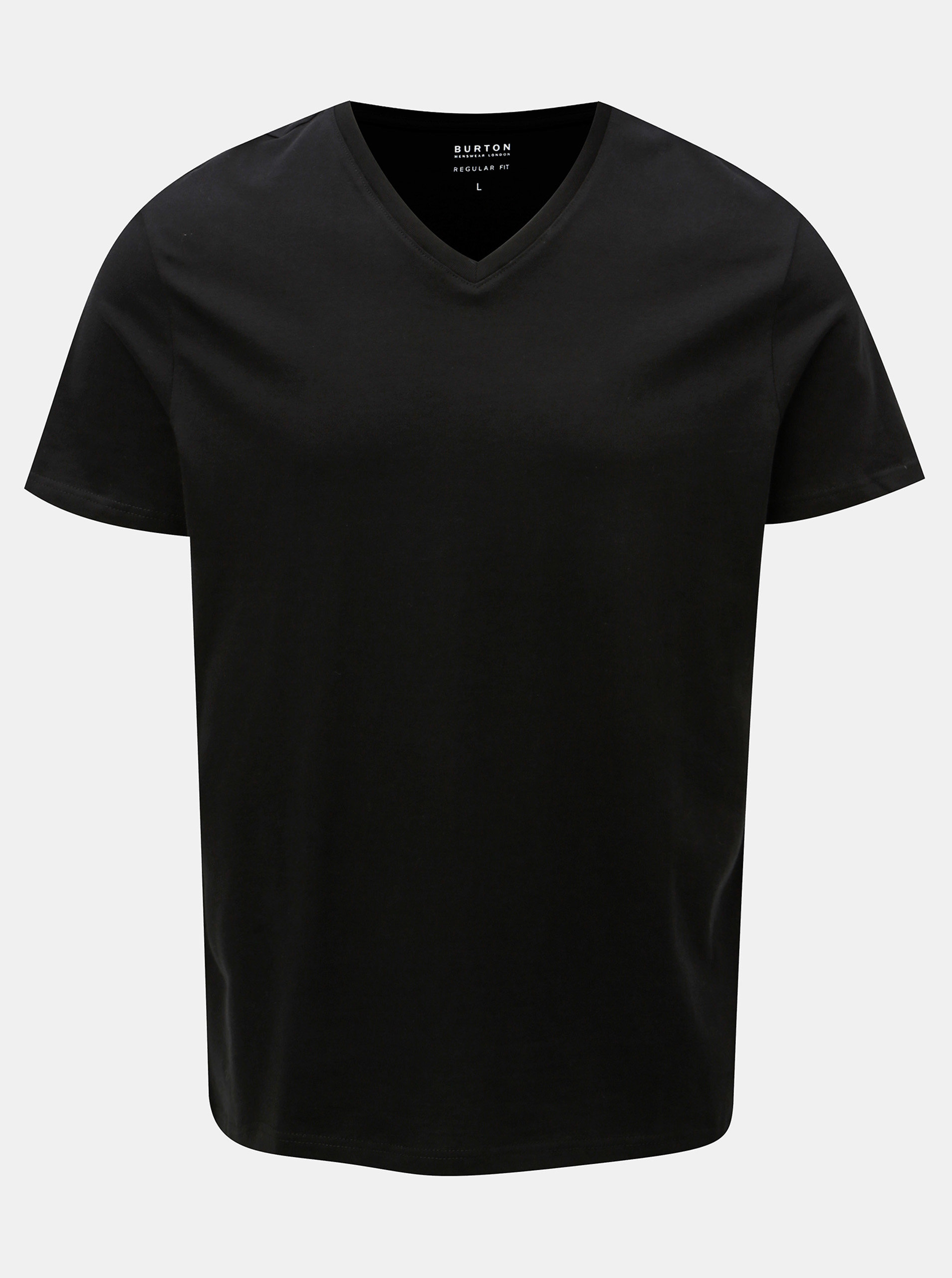 Imagine Tricou negru basic regular fit Burton Menswear London