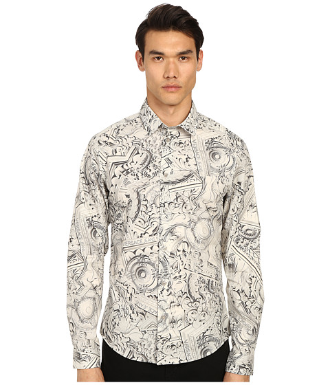 Imagine Versace Framed Baroque Print Button Up