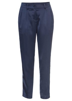 Imagine Pantaloni 7/8 satin cu pense