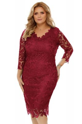 Imagine Rochie Plus Size Arella Bordo