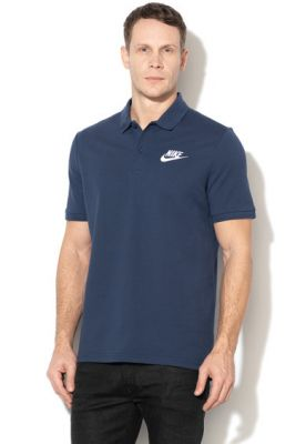 Imagine Tricou polo din pique cu broderie logo