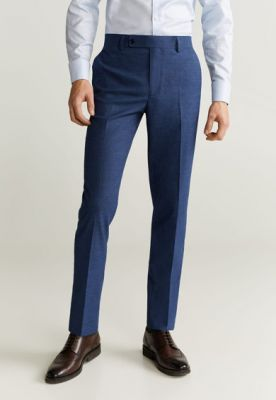 Imagine Pantaloni eleganti slim fit, cu aspect texturat Brasilia