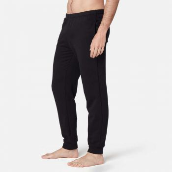 Imagine Pantalon de trening regular pilates 100 negru bărbați NYAMBA