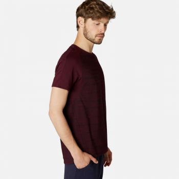 Imagine Tricou regular 520 Pilates Bordo imprimeu Bărbați NYAMBA