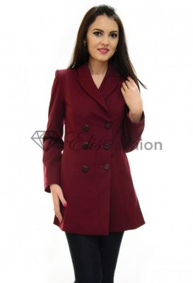 Imagine Trench Ella Collection Feminine Experience Burgundy