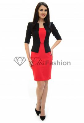 Imagine Rochie Perla Donna Black And Red