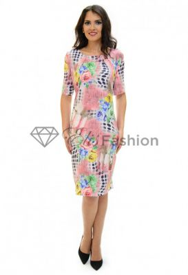 Imagine Rochie Abstract Design Pink