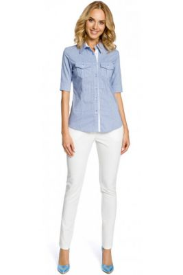 Imagine Made Of Emotion Woman's Shirt M027 Blue Checked