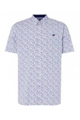 Imagine Raging Bull Short Sleeve Micro Floral Print Shirt