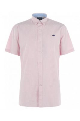 Imagine Raging Bull Short Sleeve Gingham Dobby Shirt