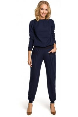 Imagine Made Of Emotion Woman's Trousers M332 Navy Blue
