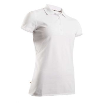 Imagine Tricou Polo Golf Alb Damă INESIS