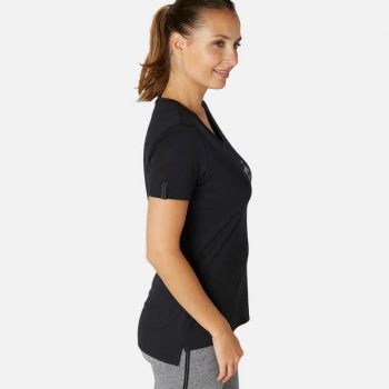 Imagine Tricou 510 pilates Negru Damă NYAMBA