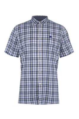 Imagine Raging Bull Short Sleeve Yarn Dyed Check Shirt