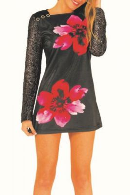Imagine Culito from Spain rochie neagra 2 Flores