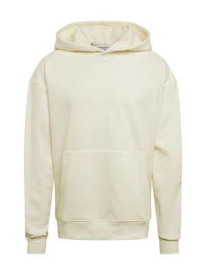 Imagine NU-IN Bluză de molton 'Layered Cuff Hoodie' crem / offwhite