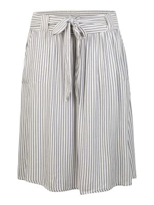 Imagine ONLY Carmakoma Fustă 'CARISA STRIPE DNM SKIRT' denim albastru / alb