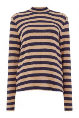 Imagine Maison De Nimes STRIPED WARM HANDLE ROLL NECK