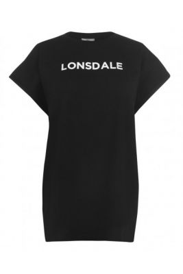 Imagine Lonsdale Long Line T Shirt Ladies