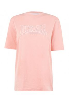 Imagine Lonsdale Long Line Crew T Shirt Ladies