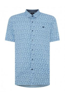 Imagine Raging Bull Short Sleeve Floral Print Shirt