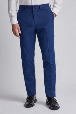 Imagine Burton Menswear London Blue Suit Slim Fit Pants