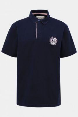 Imagine Dark Blue Polo T-Shirt with Raging Bull Embroidery
