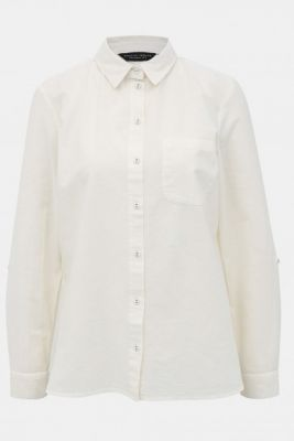 Imagine Cream shirt with flax flax admixture Dorothy Perkins