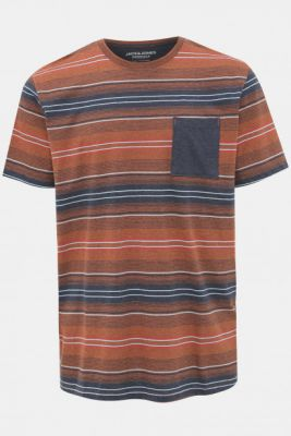 Imagine Brown Striped Jack & Jones Chil T-shirt