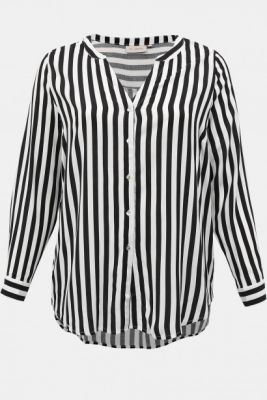 Imagine BLACK-and-white STRIPED BLOUSE ONLY CARMAKOMA