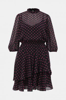 Imagine Pink-black dotted dress by Dorothy Perkins