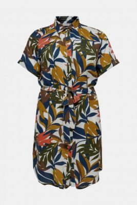 Imagine Blue-Brown Patterned Shirt Dress ONLY CARMAKOMA Isabel