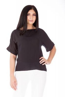 Imagine Bluza neagra cu mâneca tip kimono, Negru, 48 EU, WS713/01-20