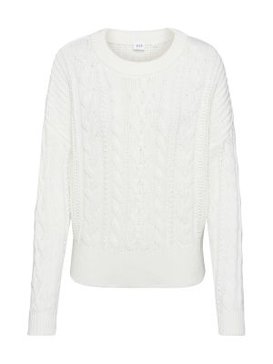Imagine GAP Pulover 'SLOUCHY CABLE CREW' alb natural