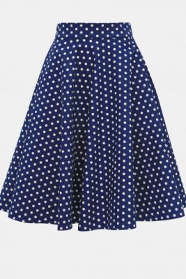 Imagine Dolly & Dotty Shirley Blue Dotted Skirt