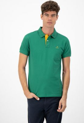 Imagine Tricou polo din material pique Rugger