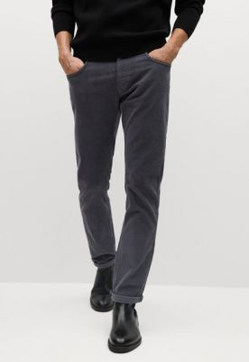 Imagine Pantaloni slim fit din reiat Bardem