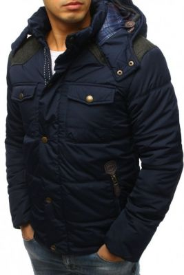 Imagine Men's quilted winter jacket navy blue (tx3022)