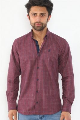 Imagine G712 DEWBERRY MEN'S SHIRT-BURGUNDY