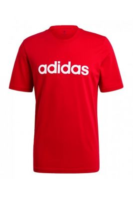 Imagine Adidas Essentials Embroidered Linear Logo T-Shirt male