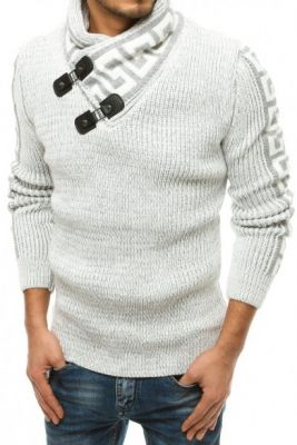 Imagine Men's ecru wool sweater WX1563